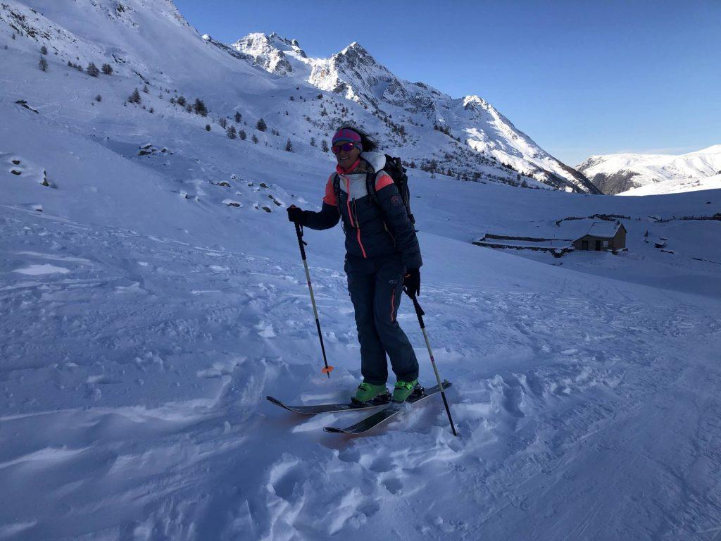 Ski Touring on the col du Lautaret