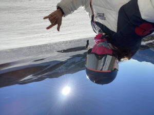 Masked skiing